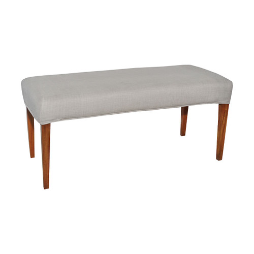 "49"" ELK Home Couture Covers Double Bench Cover - Light Grey, Transitional - 1"
