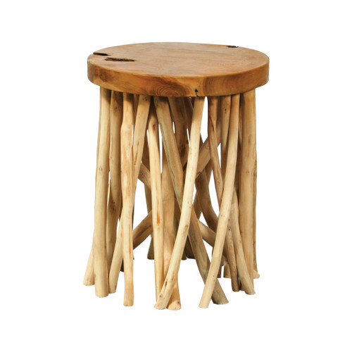 "18"" ELK Home Back Forty Accent Table in Natural, Transitional - 1"