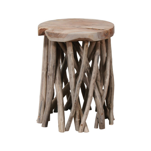 "18"" ELK Home Back Forty Accent Table in Grey Wash, Transitional - 1"