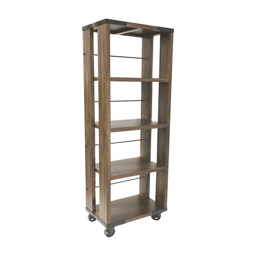"""81"""" ELK Home Penn Shelving Unit in Farmhouse Stain - Small, Transitional - 1"""