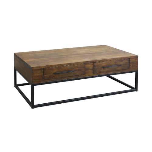 """52"""" ELK Home Stanley 2-Drawer Coffee Table in Wood and Metal, Traditional - 1"""