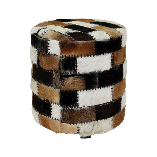 "18"" ELK Home Patchwork Ottoman, Transitional - 1"