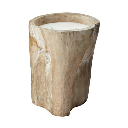 "12"" ELK Home White Pepper Log Candle, Transitional - 1"