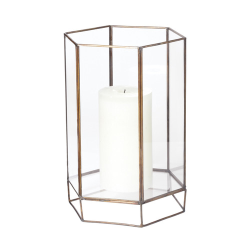 "11"" ELK Home Glass Oriel Hurricane - Small, Transitional - 1"