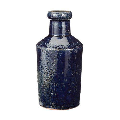 "8"" ELK Home Rustic Denim Milk Bottle, Transitional - 1"