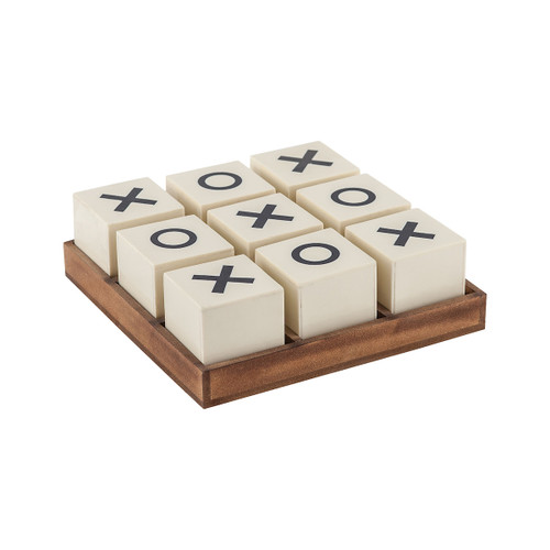 "8"" ELK Home Crossnought Tic-Tac-Toe Game, Transitional - 1"