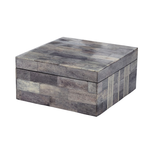 """6"""" ELK Home Gray and White Bone Boxes - Large, Transitional - 1"""