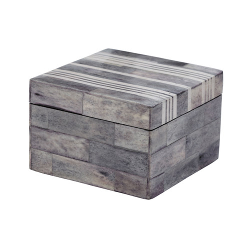"""4"""" ELK Home Gray and White Bone Boxes - Small, Transitional - 1"""