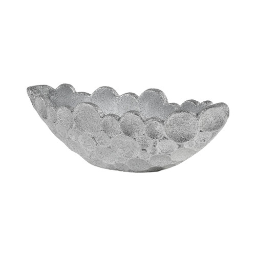 "32"" ELK Home Sea Foam Planter in Silver Plaster, Modern / Contemporary - 1"