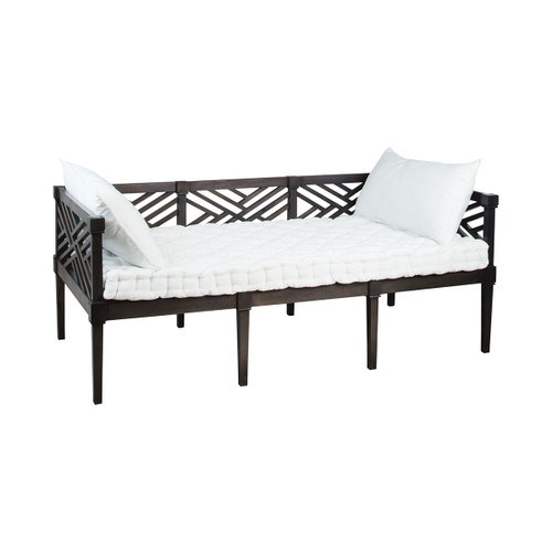 """75"""" ELK Home Teak Daybed in Antique Smoke, Traditional - 1"""