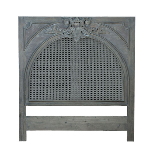 "78"" ELK Home Caned King Headboard in Weathered Grey, Traditional - 1"
