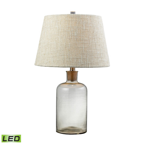 "26"" ELK Home Clear Glass Bottle Table Lamp with Cork Neck - LED, Transitional - 1"