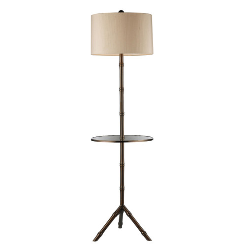"59"" ELK Home Stanton Floor Lamp in Dun brook Finish with Glass Tray, Transitional - 1"