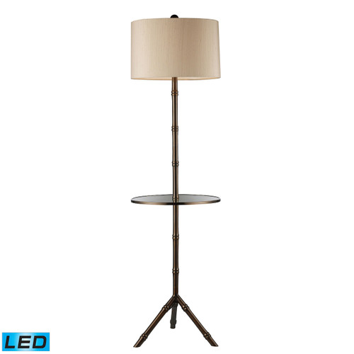 "59"" ELK Home Stanton Floor Lamp in Dun brook Finish with Glass Tray - LED, Transitional - 1"