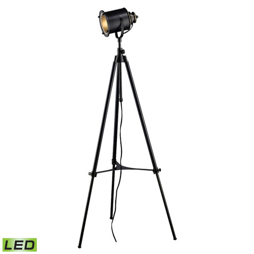 "37"" ELK Home Ethan Adjustable Tripod Floor Lamp in Restoration Black - LED, Transitional - 1"