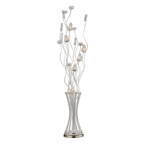 "55"" ELK Home Silver Floral 6-Light Floor Lamp, Modern / Contemporary - 1"
