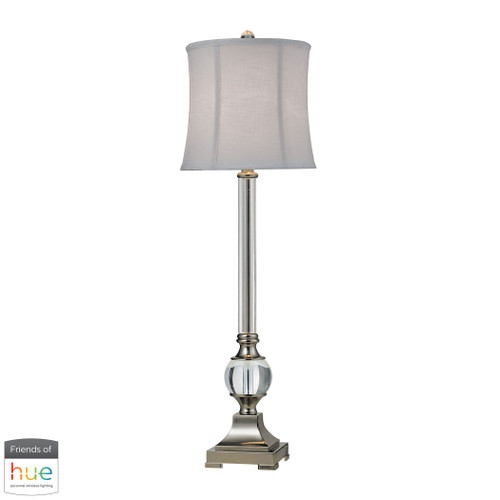 """36"""" ELK Home Corvallis Buffet Lamp in Polished Nickel and Clear Finish - with Philips Hue LED Bulb/Bridge, Traditional - 1"""