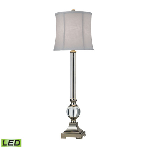 """36"""" ELK Home Corvallis Buffet Lamp in Polished Nickel and Clear Finish - LED, Traditional - 1"""