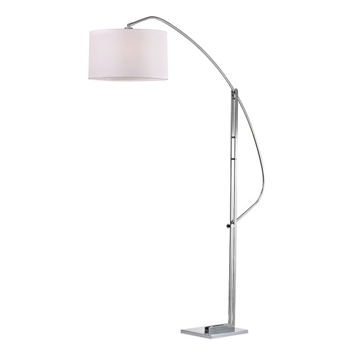 "50"" ELK Home Assissi Adjustable Arc Floor Lamp in Polished Nickel, Modern / Contemporary - 1"