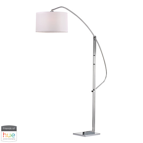 "50"" ELK Home Assissi Adjustable Floor Lamp in Polished Nickel - with Philips Hue LED Bulb/Bridge, Modern / Contemporary - 1"