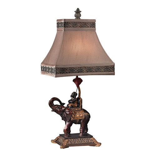 "24"" ELK Home Monkey on Elephant Accent Lamp, Traditional - 1"
