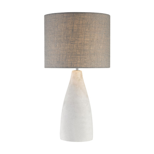"21"" ELK Home Rockport Table Lamp in Polished Concrete with Burlap Shade - Tall, Transitional - 1"