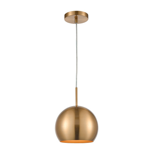 "10"" ELK Home Salt Rim 1-Light Mini Pendant in Aged Brass, Modern / Contemporary - 1"