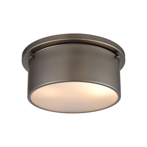 """10"""" ELK Lighting 2-Light Flush Mount in Black Nickel with Frosted Glass, Modern / Contemporary - 1"""