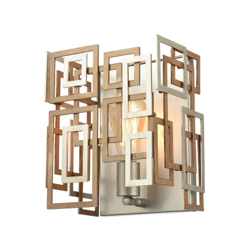 "10"" ELK Lighting Gridlock 1-Light Sconce in Matte Gold and Aged Silver, Modern / Contemporary - 1"