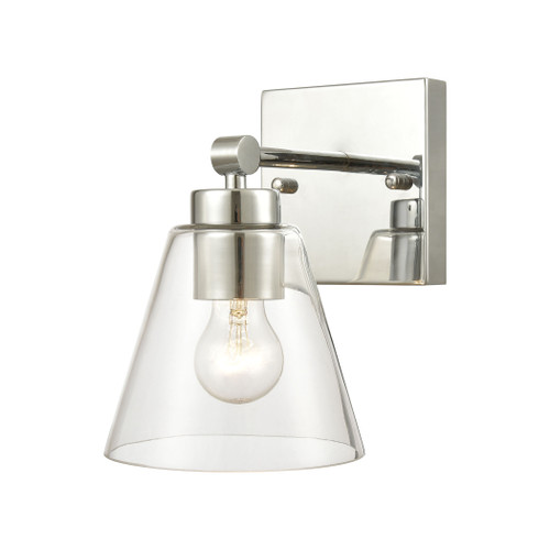 "10"" ELK Lighting East Point 1-Light Vanity Light in Polished Chrome with Clear Glass, Transitional - 1"