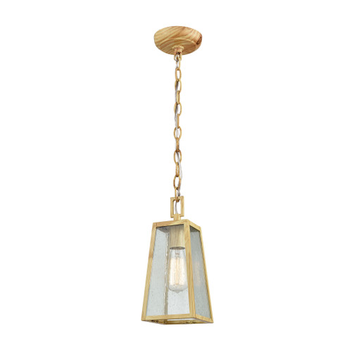 "12"" ELK Lighting Meditterano 1-Light Outdoor Pendant in Birchwood, Transitional - 1"