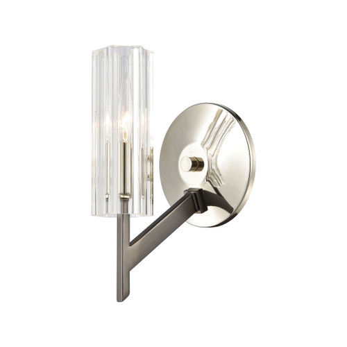 "10"" ELK Lighting Aspire 1-Light Sconce in Black Nickel with Ribbed Crystal, Modern / Contemporary - 1"