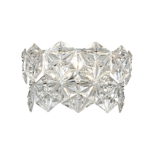 """14"""" ELK Lighting Lavique 2-Light Sconce in Polished Chrome with Clear Crystal, Traditional - 1"""