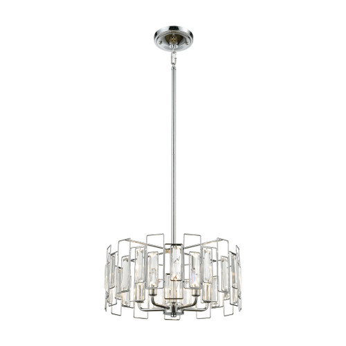 """16"""" ELK Lighting Crosby 5-Light Chandelier in Polished Chrome with Clear Crystal, Modern / Contemporary - 1"""