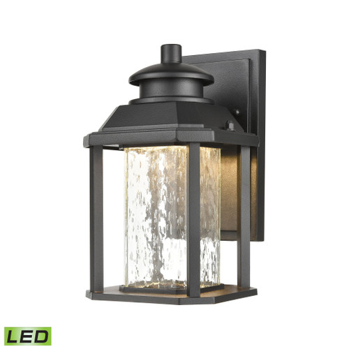 "10"" ELK Lighting Irvine Sconce in Matte Black with Seedy Glass - Integrated LED, Traditional - 1"