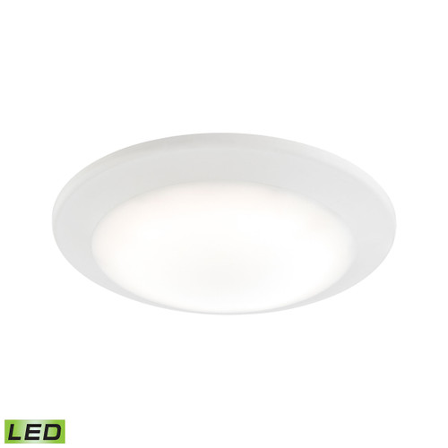 "7"" ELK Lighting Plandome 1-Light Recessed Light in Clean White with Glass Diffuser, Modern / Contemporary - 1"