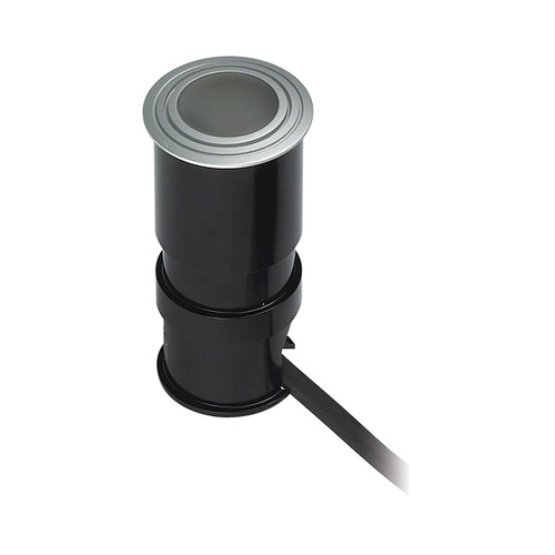"""4"""" ELK Lighting Wet Spot 1-Light Button Light in Metallic Grey with Frosted Glass Lens - Integrated LED, Modern / Contemporary - 1"""