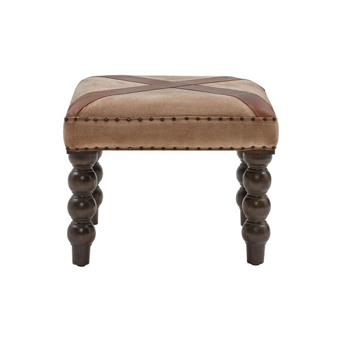 """24"""" Stein World Tilson Bench In Tan Suede Cloth, Traditional - 1"""