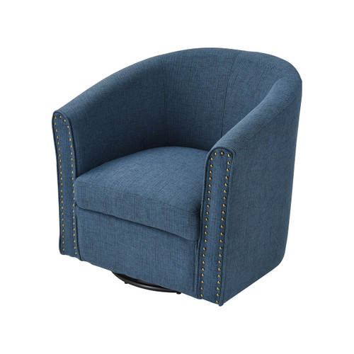 "30"" Stein World Avalor Navy Linen Chair, Transitional - 1"
