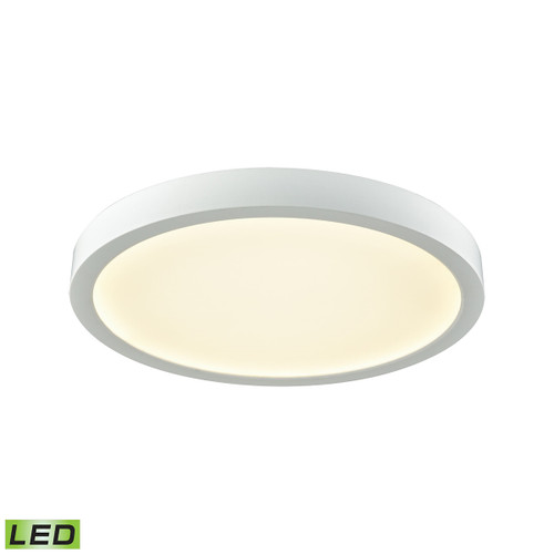 """10"""" Thomas Lighting Titan 1-Light Integrated LED Flush Mount in White with a White Acrylic Diffuser, Modern / Contemporary - 1"""