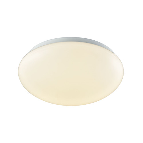 """10"""" Thomas Lighting Kalona 1-Light LED Flush Mount in White with a White Acrylic Diffuser, Modern / Contemporary - 1"""