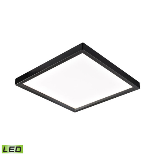 """10"""" Thomas Lighting Ceiling Essentials Titan Square Flush Mount in Oil Rubbed Bronze - Integrated LED, Modern / Contemporary - 1"""