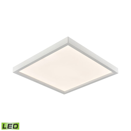 """10"""" Thomas Lighting Ceiling Essentials Titan Square Flush Mount in White - Integrated LED, Modern / Contemporary - 1"""