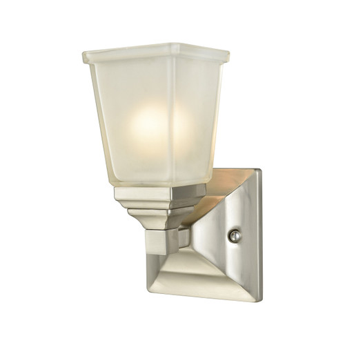 "10"" Thomas Lighting Sinclair 1-Light for the Bath in Brushed Nickel with Frosted Glass, Traditional - 1"