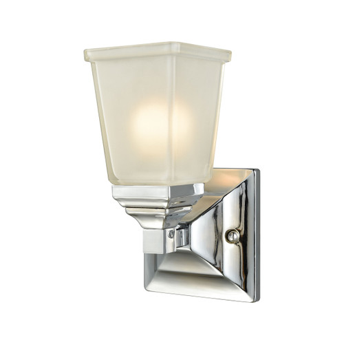 "10"" Thomas Lighting Sinclair 1-Light for the Bath in Polished Chrome with Frosted Glass, Traditional - 1"