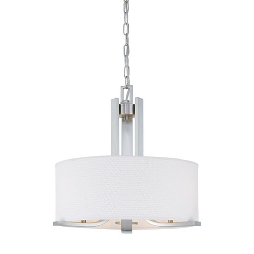"20"" Thomas Lighting Pendenza 3-Light Chandelier in Brushed Nickel, Transitional - 1"
