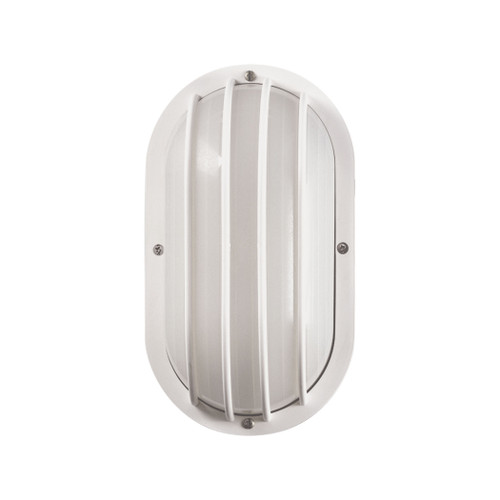 "11"" Thomas Lighting Essentials 1-Light Outdoor Wall Sconce in White, Modern / Contemporary - 1"