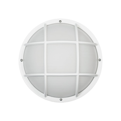 "10"" Thomas Lighting Essentials 1-Light Outdoor Wall Sconce in White, Modern / Contemporary - 1"