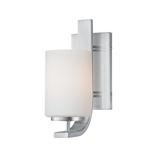 "12"" Thomas Lighting Pendenza 1-Light Wall Lamp in Brushed Nickel, Transitional - 1"