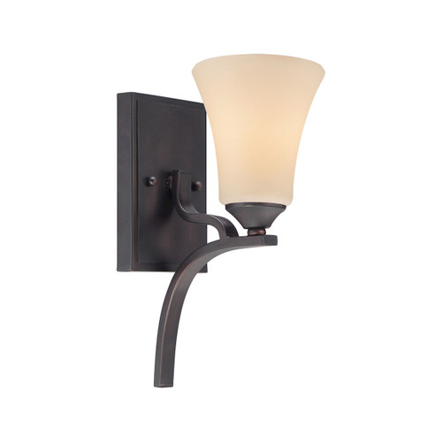 "12"" Thomas Lighting Treme 1-Light Wall Lamp in Espresso, Traditional - 1"